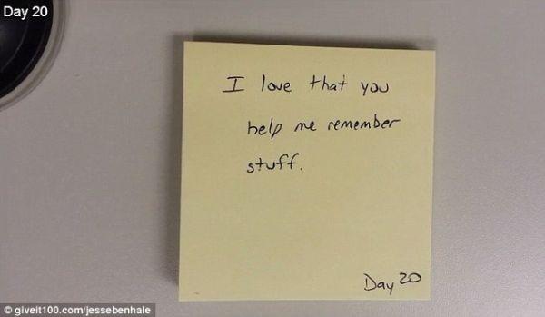 """""""Me encanta que me ayudes a recordar cosas."""" Día 20."""